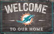 """Miami Dolphins 11"""" x 19"""" Welcome to Our Home Sign"""