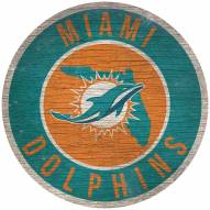 """Miami Dolphins 12"""" Circle with State Sign"""
