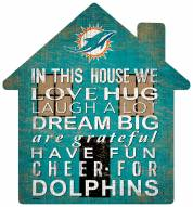 """Miami Dolphins 12"""" House Sign"""