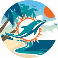 """Miami Dolphins 12"""" Landscape Circle Sign"""
