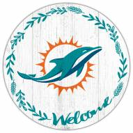 """Miami Dolphins 12"""" Welcome Circle Sign"""