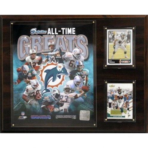 "Miami Dolphins 12"" x 15"" All-Time Great Plaque"