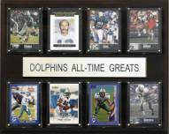 "Miami Dolphins 12"" x 15"" All-Time Greats Plaque"