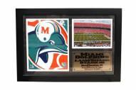 """Miami Dolphins 12"""" x 18"""" Photo Stat Frame"""