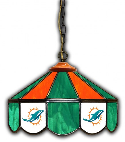 "Miami Dolphins 14"" Glass Pub Lamp"
