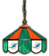 "Miami Dolphins 14"" Glass Pub Lamp"