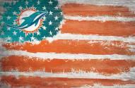 "Miami Dolphins 17"" x 26"" Flag Sign"