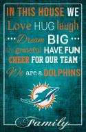 """Miami Dolphins 17"""" x 26"""" In This House Sign"""