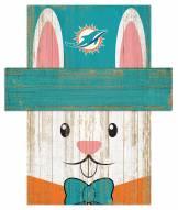"Miami Dolphins 19"" x 16"" Easter Bunny Head"