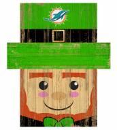 """Miami Dolphins 19"""" x 16"""" Leprechaun Head"""