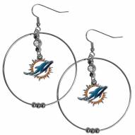"Miami Dolphins 2"" Hoop Earrings"