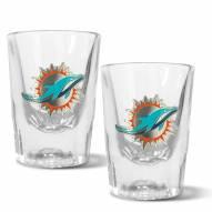 Miami Dolphins 2 oz. Prism Shot Glass Set