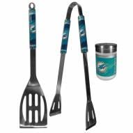 Miami Dolphins 2 Piece BBQ Set with Season Shaker