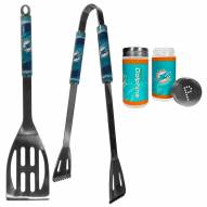 Miami Dolphins 2 Piece BBQ Set with Tailgate Salt & Pepper Shakers