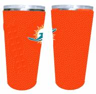 Miami Dolphins 20 oz. Stainless Steel Tumbler with Silicone Wrap