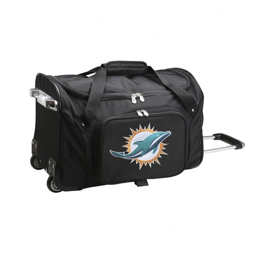 """Miami Dolphins 22"""" Rolling Duffle Bag"""