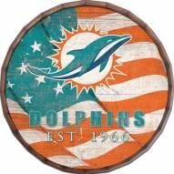"""Miami Dolphins 24"""" Flag Barrel Top"""