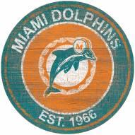 "Miami Dolphins 24"" Heritage Logo Round Sign"