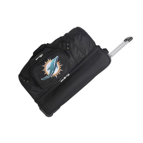 "Miami Dolphins 27"" Drop Bottom Wheeled Duffle Bag"