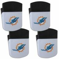 Miami Dolphins 4 Pack Chip Clip Magnet with Bottle Opener