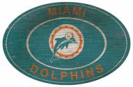 """Miami Dolphins 46"""" Heritage Logo Oval Sign"""