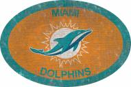 """Miami Dolphins 46"""" Team Color Oval Sign"""