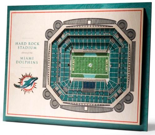 Miami Dolphins 5-Layer StadiumViews 3D Wall Art