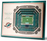 Miami Dolphins 5-Layer StadiumViews 3D Wall Art