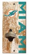 """Miami Dolphins 6"""" x 12"""" Distressed Bottle Opener"""