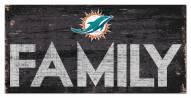 "Miami Dolphins 6"" x 12"" Family Sign"