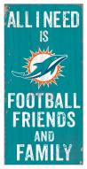 """Miami Dolphins 6"""" x 12"""" Friends & Family Sign"""