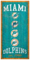 """Miami Dolphins 6"""" x 12"""" Heritage Sign"""
