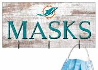 """Miami Dolphins 6"""" x 12"""" Mask Holder"""