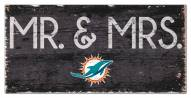 """Miami Dolphins 6"""" x 12"""" Mr. & Mrs. Sign"""