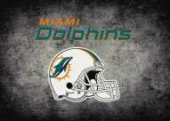 Miami Dolphins 6' x 8' NFL Distressed Area Rug