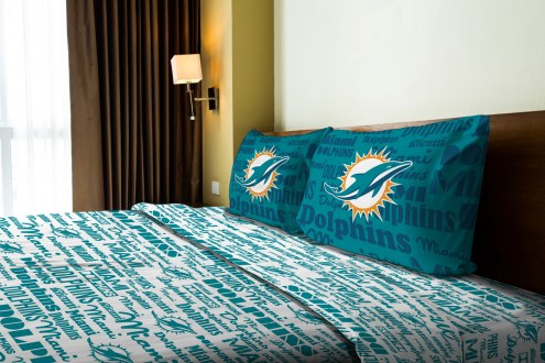 Miami Dolphins Anthem Full Bed Sheets