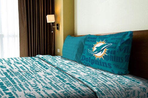 Miami Dolphins Anthem Twin Bed Sheets