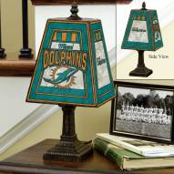 Miami Dolphins Art Glass Table Lamp