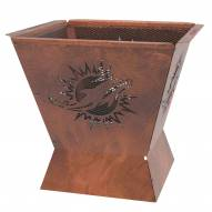 """Miami Dolphins Badlands 29.5"""" Square Fire Pit"""