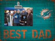 Miami Dolphins Best Dad Clip Frame