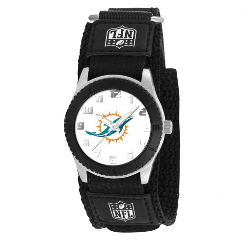 Miami Dolphins Black Rookie Kids Watch