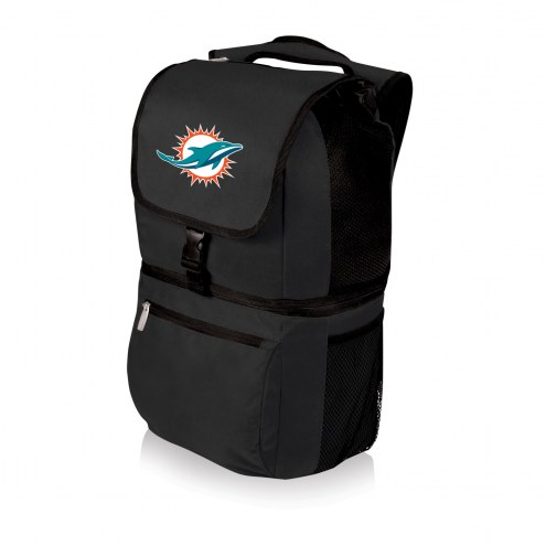Miami Dolphins Black Zuma Cooler Backpack