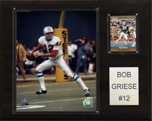 """Miami Dolphins Bob Griese 12 x 15"""" Player Plaque"""