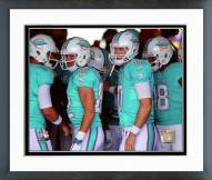 Miami Dolphins Brian Hartline & Ryan Tannehill Action Framed Photo