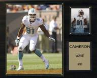"Miami Dolphins Cameron Wake 12"" x 15"" Player Plaque"