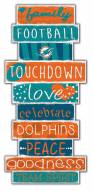 Miami Dolphins Celebrations Stack Sign