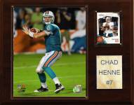 "Miami Dolphins Chad Henne 12 x 15"" Player Plaque"