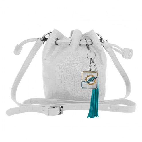 Miami Dolphins Charming Mini Bucket Bag