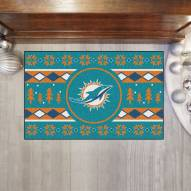 Miami Dolphins Christmas Sweater Starter Rug