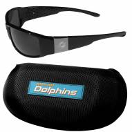 Miami Dolphins Chrome Wrap Sunglasses & Zippered Carrying Case